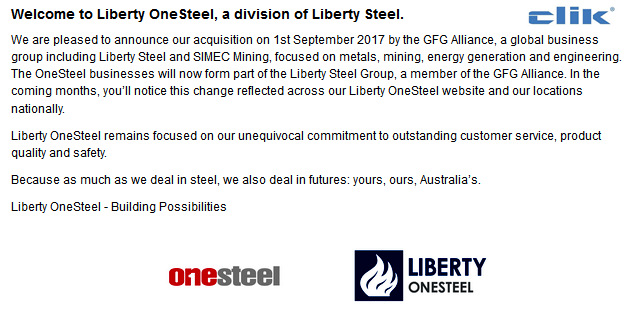 Liberty Onesteels Parent Company — Edulify